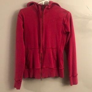 Nike pink zip up hoodie